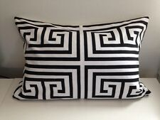 Black and white pillow Case Geometric Pillow Greek Key Lumbar Modern Pillow