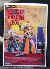 "Class of Nuke 'Em High Movie Poster 2"" X 3"" Fridge Magnet. Lloyd Kaufman Troma"