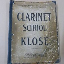 CLARINET SCHOOL by KLOSE Royal Military School  Music Kneller Hall Hounslow 1904