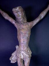 grosse Heiligenfigur / Christus - Holz geschnitzt  17./18.Jhdt.