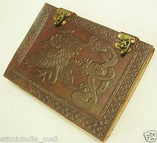 Handmade GRIFFIN Embossed Leather Journal Blank Notebook Dream Diary Sketchbook