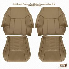 1996 - 2002 Toyota 4Runner Driver & Passenger  Bottom/Top Leather Seat Cover Tan
