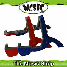 1 x CooperStand Duro Pro Blue Folding Guitar Stand - Fits in Most Guitar Cases