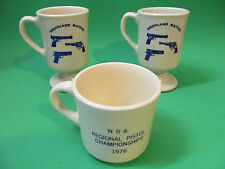 Vintage San Diego Police Revolver Club NRA / Southland Matches Coffee Mugs (3)