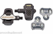 NEW LOOK KEO BLADE 2 Carbon Ti Titanium  Pedals & Grey Cleat set 12Nm Nanoblade