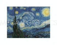 """VAN GOGH VINCENT - THE STARRY NIGHT - Offset Lithograph 16"""" X 20""""  (168)"""