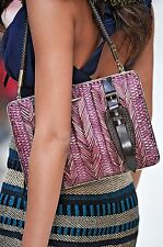 $1,695 Burberry Prorsum Beetroot Woven Clutch Women Hand Shoulder Bag Wallet NEW
