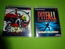 Empty Replacement Cases!  Pitfall 3D Spawn Sony PlayStation PS1 PS2 PS3