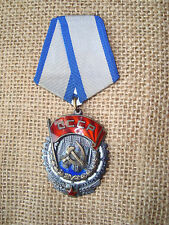 RUSSIAN RUSSIA SOVIET USSR CCCP BADGE Medal Order of the Red Banner  LOW No.
