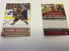 2014-15 Gabriel Gosselin Acadie-Bathurst Titan Hockey Card