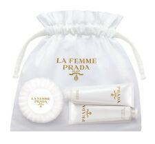 Prada La Femme Coffret Hand cream, shower gel, Soap Travel Set bag Pouch nib NEW