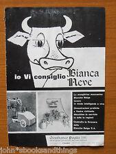 1960 MUNGITRICE MECCANICA BLANCHE NEIGE MACCHINA AGRICOLA LATTE LAVORO FATTORIA