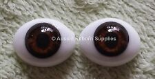 Reborn Baby Ovel Glass Eyes 14mm Brown Doll Making Supplies