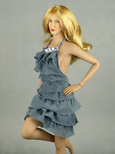 1/6 Phicen, Hot Stuff, Hot Toys, VG - Gray Color Neck Strap Layered Party Dress