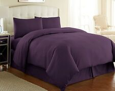 Luxury 100% Egyptian Cotton Duvet Quilt Cover & Pillowcase Bedding Set All Sizes