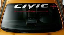 Honda Civic Decal Windshield Banner Stickers