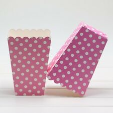 6pcs Popcorn Treat Dots Spot Stripes Style Boxes Favour Party Birthday Paper Bag