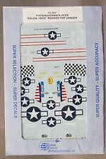 1/72 SuperScale Decals 72-261 P-47D RAZORBACK ACES Sulvia Okie Rodger Dodge mint