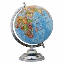 Big Rotating Desktop Blue Ocean Globe World Geography Earth Table Decor 12""