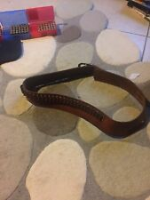 Leather Gun And Ammunition Belt