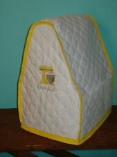 KitchenAid Mixer Appliance Cover~White Quilt~Yellow Trim~Bowl Lift~Mixer Emblem