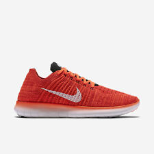 Nib Nike Free RN Flyknit Mens Running Shoes BRIGHT CRIMSON  831069 601  size 11