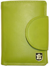 LEDER Geldbörse WIENER MINIBRIEFTASCHE limone Wiener Schachtel Geldbeutel grün