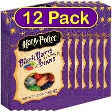 12 Pack HARRY POTTER BERTIE BOTTS BEANS 1.2oz ~ Jelly Belly ~ Bott's Candy