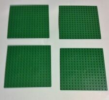 LEGO  compatible BASEPLATE ~ Green 16 x 16 stud Base Plate    NEW lot of 4