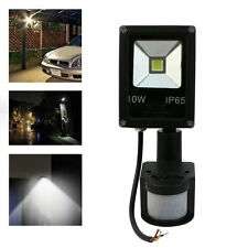 Outdoor 10W White Waterproof Flood Light IR Motion Human Sensor LED AC85-265V