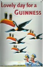 Guinness Flying Toucans mini metal sign / postcard   110mm x 80mm   (hi)