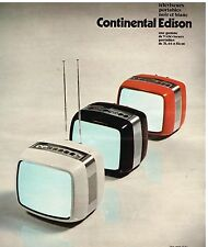 Publicité Advertising 1976 Télévision Téléviseurs Portable Continental Edison
