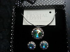 Genuine Swarovski Elements AB Crystal Gift Boxed Jewellery Set