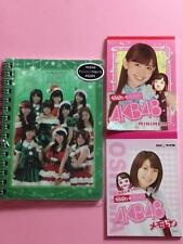 """AKB48, Official Goods """"Three Mini Memo Note Set"""" Pink, Green, Puccho"""