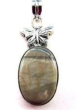 925 Sterling Silver Pendant With Natural Breciated Mookaite  (nk1516)