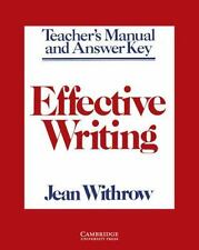 Effective Writing Teacher's manual: Writing Skills for Intermediate St-ExLibrary