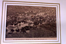 1841 Town and Castle of Heidelberg Rhine Cousen Leitch Stahlstich
