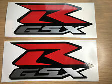 2 x GSXR Suzuki Decals Graphics Stickers 150mm Vinyl Overlay Red Silver Non OEM