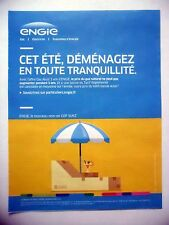 PUBLICITE-ADVERTISING :  ENGIE gaz naturel  2016 Parasol,Coktail,Transat