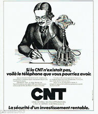 PUBLICITE ADVERTISING 036  1978  Caisse Nationale des Télécommunications CNT inv