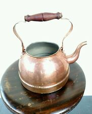 Vintage Tagus Copper Teapot Wooden Handle Made in Portugal
