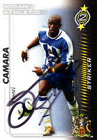 Wigan Athletic F.C Henri Camara Hand 05/06 Premiership Shoot Out Signed Card.