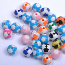 FREE SHIP 30pcs Acrylic Football Spacer Loose Charms Beads~findings 12MM