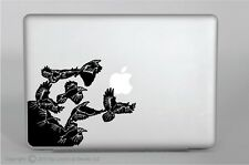 Crows Flying Vinyl Decal,laptop,ipad,macbook pro,skin,