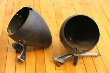 Bullet Head Light Buckets Pair Vintage Guide Rat Rod Hot Rod Ford Chevy Dodge
