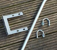 TV Aerial Wall Mounting Kit Straight Pole / Mast Outdoor Bracket - Reduced
