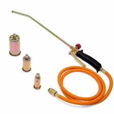 Portable Propane Torch with 3 Nozzles Fire Melting Ice Snow Lawn Weed Burner