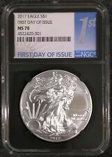2017 $1 Silver Eagle - NGC MS70 - First Day of Issue - 1st Label - Perfect