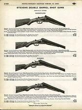 1910 ADVERTISEMENT Stevens Double Barrel Shotgun Shot Gun Hammer Hammerless