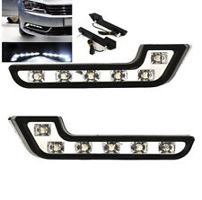 2X DRL DAYTIME RUNNING 6 LED LIGHTS KIT CHROME Fog light for BENZ STYLE